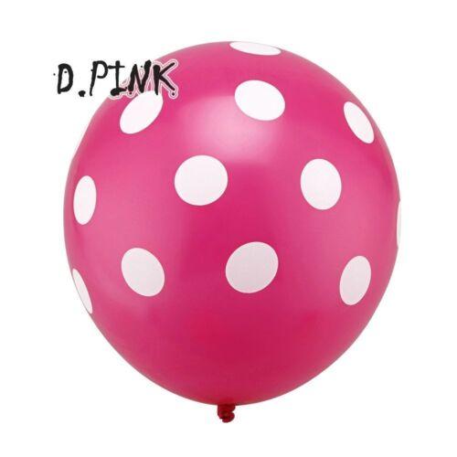 "Polka Dots Spots Birthday Party BALLOONS Decotations Supplies 12/"" LATEX SPOTTY"