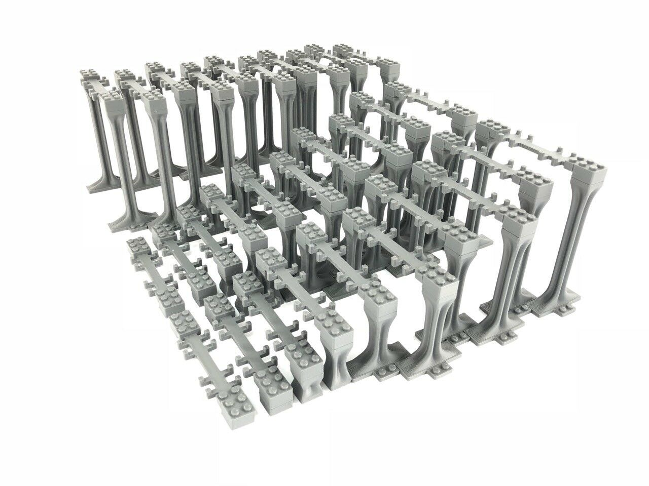 Supports Bundle -2 Incline and 1 1 1 Highest Support Sets compatible with Lego Train 0c7490