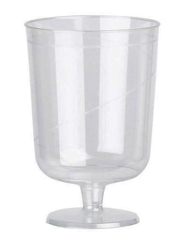 540 8oz tige vin gobelet en plastique transparent tasses verres jetables jus boissons gazeuses