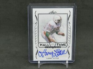 2021 LEAF SIGNATURE SERIES LARRY LITTLE HALL OF FAME AUTO MIAMI DOLPHINS DLNH