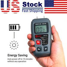 Wood Moisture Humidity Detector Lcd Digital Handheld Analyzer Woodworking Z7w0