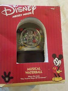 Très Rare Disney Musical Waterball Boule À Neige Avec Minnie En Boîte Originale