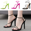 Womens-Open-Toe-High-Stiletto-Heel-Shoes-Cut-Out-Slingbacks-Slip-On-Sandals-Chic thumbnail 2