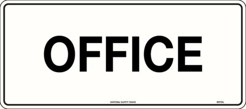 Office Safety Sign Reception 450x200mm Metal