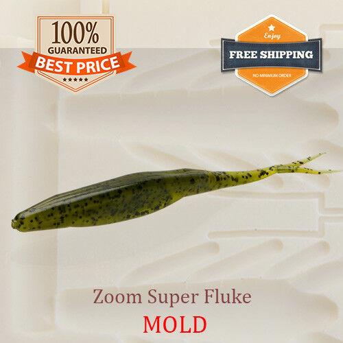 Bait Mold Zoom Super Fluke Fishing Lure Shad Soft Plastic Magnum 100-175 mm