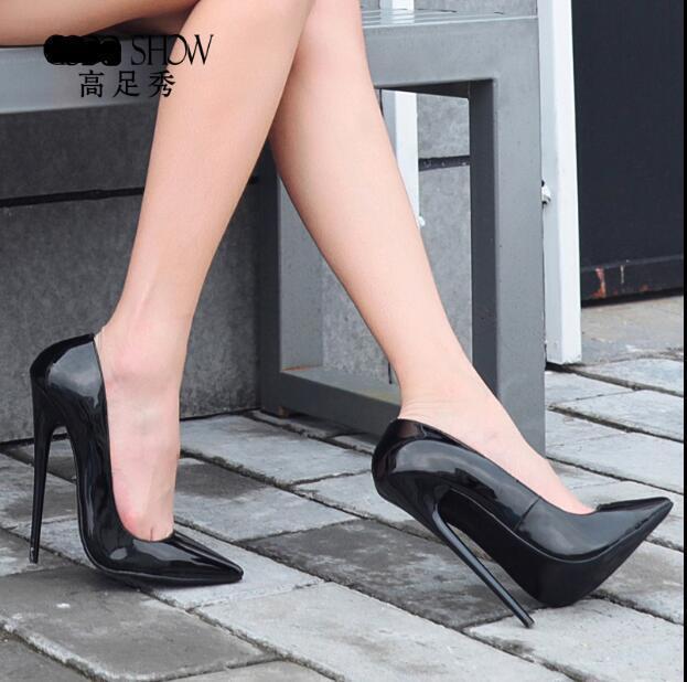 16CM donna Stilettos High Heels Patent Leather Pointed Toe scarpe Pumps Sz39-45