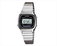 CASIO Watch LA-670WA-1JF Digital Ladies Silver Women Stainless Retro Alarm New