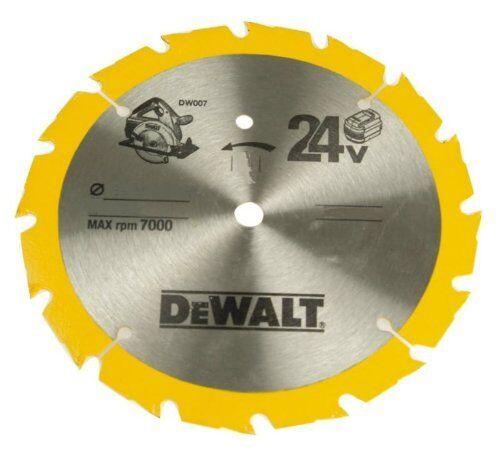 Lama 165 mm taglio legno liscio 24 denti codice DT1209-QZ marca DEWALT