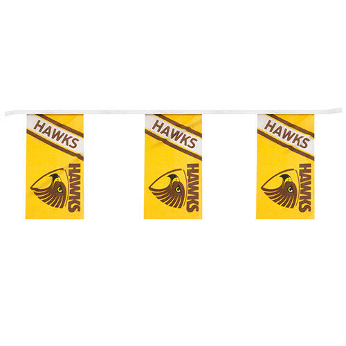 AFL Hawthorn Hawks Bunting Flag 5M Hanging Flags Party Decorations