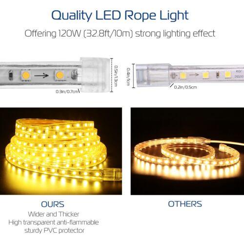 Warm IP65 1M//2M//3M//5M//10M 5050 110V LED Flexible Strip Light Tape Cold White