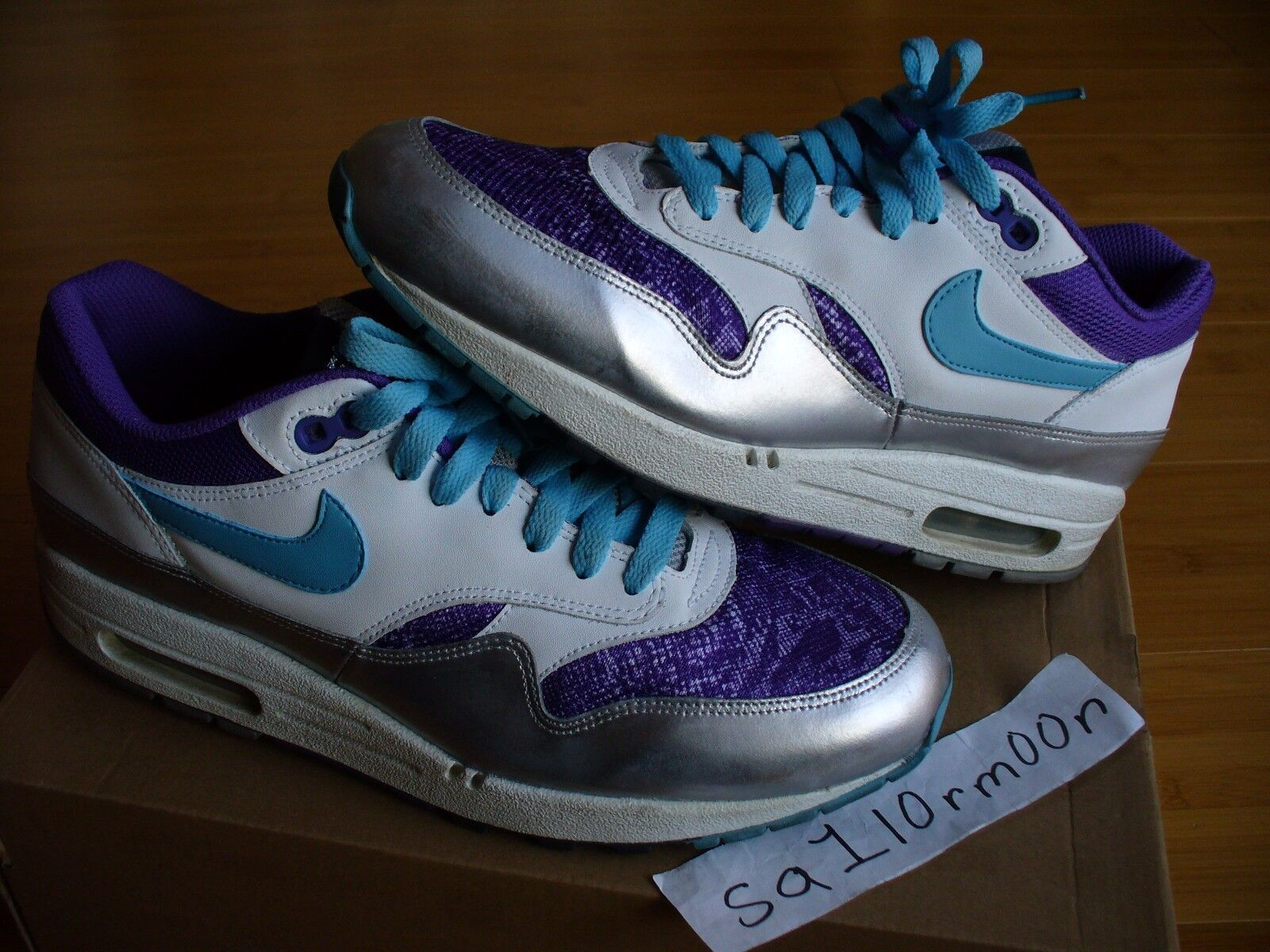 Nike Air Max 1  Femme  Lace Premium 9 cement XI laser countdown tiff space dunk