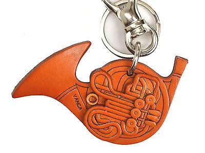 Guitar Handmade 3D Leather Music Keychain//Charm *VANCA* Made in Japan #56571