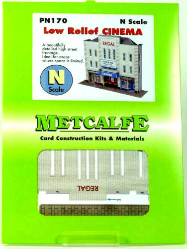 PN170 Metcalfe N Gauge Low Relief Cinema Model Railway Building Layout Card Kit