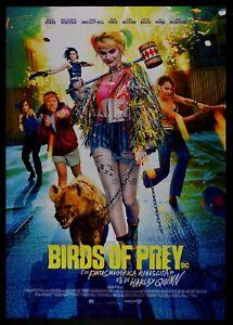 Manifesto Birds Of Prey Harley Quinn Margot Robbie Black Canary Poster Movie M31
