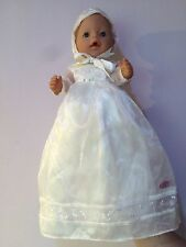Excellent Condition Zapf Creation Baby Born Christening Dress And Hat