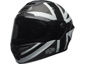 Casque-moto-route-integral-BELL-Race-Star-Ace-cafe-Blackjack-noir-blanc