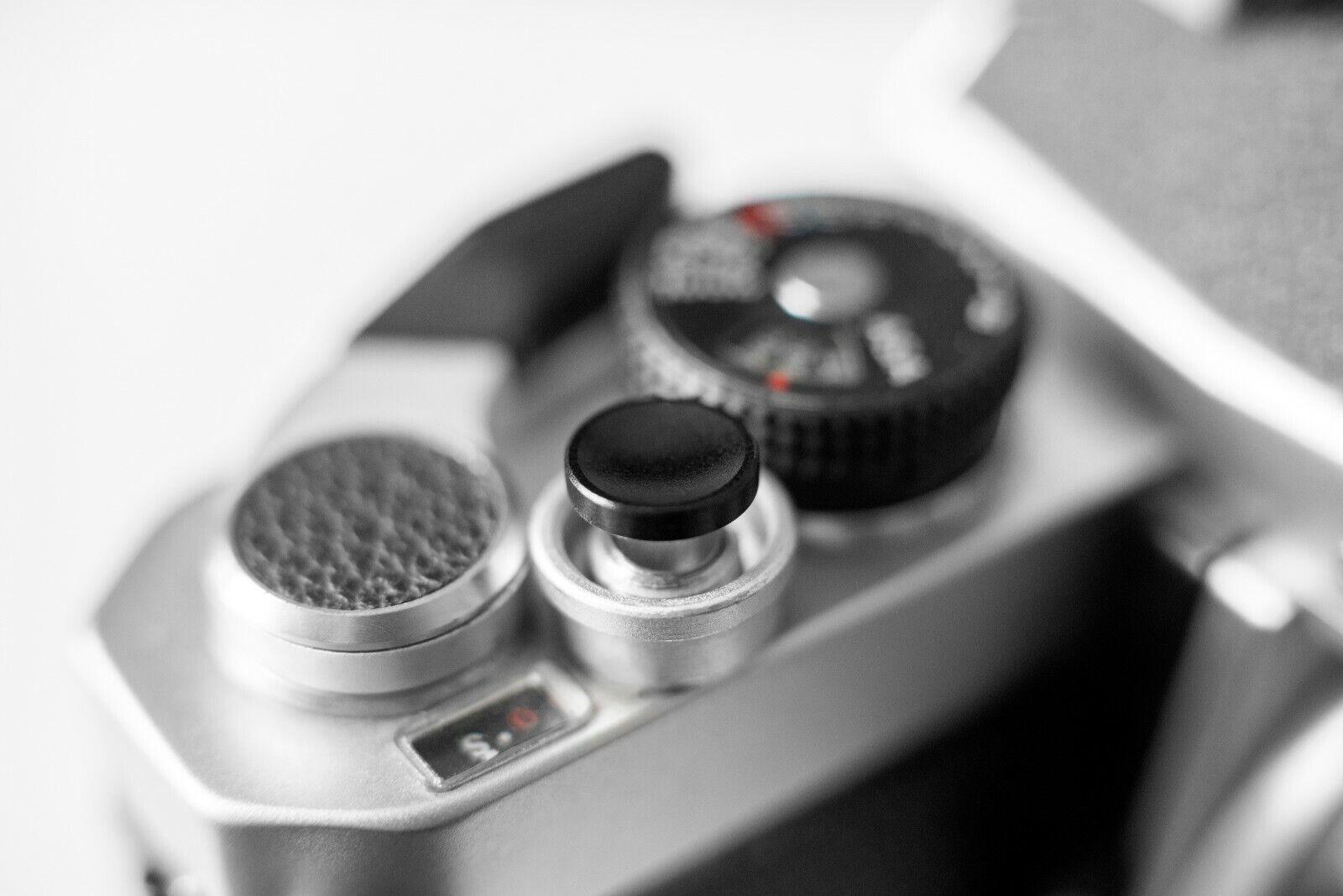 Black Metal Shutter Button Soft Release Metal Concave - Fuji XT2 X20 X100 etc