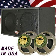 1) 2x12 Guitar Spker Cab Charcoal black Tolex W/Celestion Green Back speakers