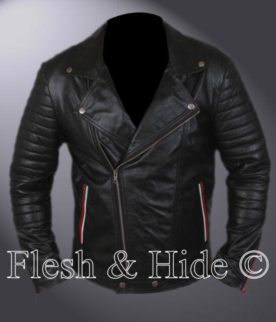 Ryan Gosling Blue Valentine Leather Ultimate Bomber Biker Motorcycle Jacket
