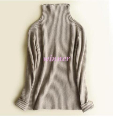 pull femmes pour laine haut sur tirez en en cardigan laine un lâche en col véritable Sz Pull à 8wgqCOz4