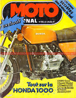 MOTO JOURNAL 185 HONDA GL 1000 Gold Wing GUZZI V1000 V7 SUZUKI RE 5 WANKEL 1974