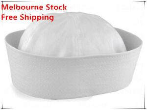 Adult-Unisex-White-Sailor-Navy-Hat-Gob-Boat-Captain-Hen-039-s-Night-Marine-Doughboy
