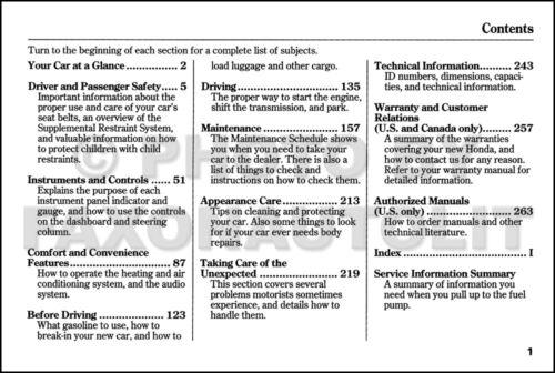 Car Manuals & Literature Owner & Operator Manuals 2000 Honda Civic ...