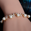 Women-Gold-Plated-Bangle-Crystal-Cuff-pearl-chain-Bracelet-Jewelry-Fashion-Gift