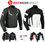 miniature 1 - Leather Motorbike Motorcycle Jacket With CE Armour Sports Racing Biker Thermal