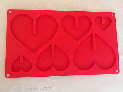 Lakeland 3D Silicone Heart Mould For Chocolate Candy Bars  Biscuits Cakes,