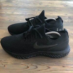 e17ba4f15870 RARE New Deadstock Triple Black Nike Epic React Flyknit Mens Size ...