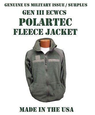 US MILITARY ECWCS GREEN GEN III POLARTEC FLEECE JACKET PARKA LINER MEN/'S XXL 2XL