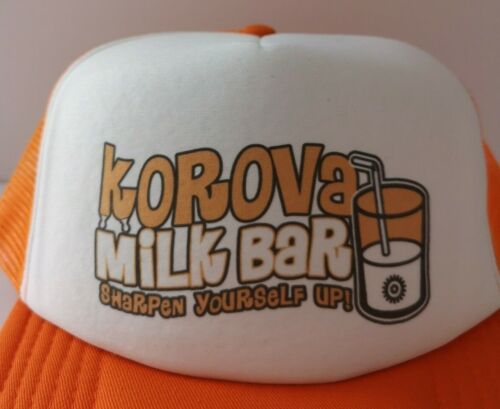 Korova Milk Arancione Bar Clockwork Camionista Cappello-Retro Mod MOVIE FILM Snapback