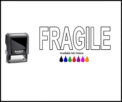 FRAGILE Outline Rubber Stamp - Trodat Ideal 4911