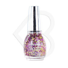 Laval Crystal Finish Glitter Top Coat Nail Polish Glitter Ball Pink Purple Gold