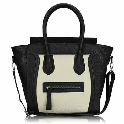 Designer Handbag Faux Leather Celebrity Tote Smile Shoulder Satchel Ladies Bag