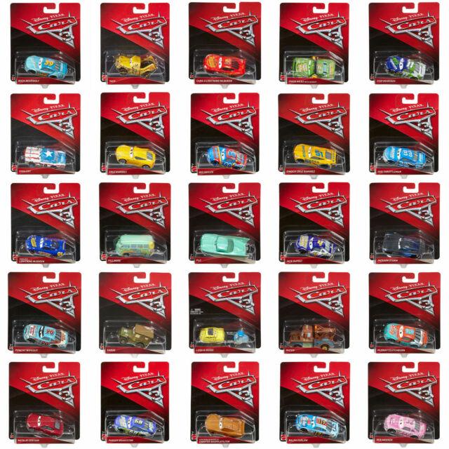 Disney Pixar Cars 3 Die-cast Escala 1:55 vehículos por Mattel (elija un personaje)