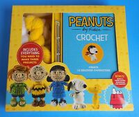 Peanuts Snoopy Charlie Brown Lucy Plush Doll Hooks Book Yarn Crochet Craft Kit