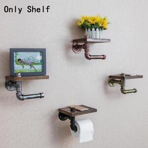 Staedtische-industrielle-ToilettenPapierHalter-Rollwand-montieren-Eisen-Rohr-Holz