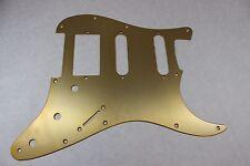 Brushed Gold Anodized  Aluminum HSS Strat Pickguard- Fits Fender Stratocaster