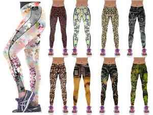 EFA2Z Womens Sports Leggings Fitness Yoga Gym Running Jogging Trousers 1076-1084