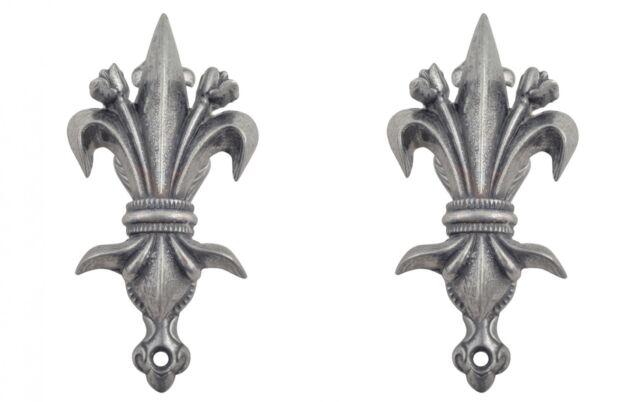 2er Set Wandhalter Bourbon-Lilie für Denix Waffen Halter Schwert Waffenhalter (1