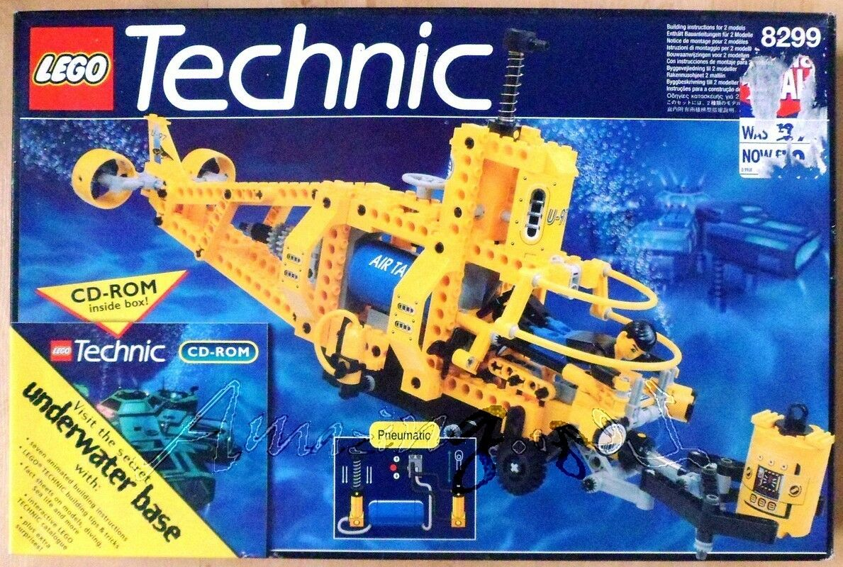 Discontinued Lego Technic 8299 Search Sub From 1997    Sealed Bags