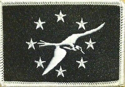 Corpus Christi TEXAS Flag Iron-On Tactical Morale Patch Gold Border #40