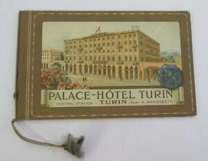 PLACE HOTEL TURIN, Circa 1925 Illustrated Booklet