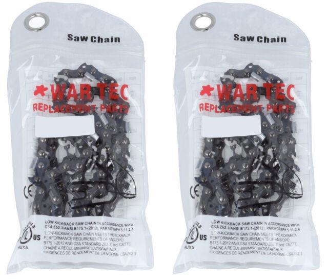 "WAR TEC 16/"" Chainsaw Chain Pack Of 2 Fits Some RYOBI RCS4040 RCS4040C Chainsaws"