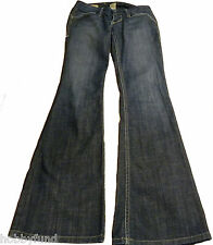 William Rast Savoy Ultra Low Rise Trouser Sz 24 Blue Jeans