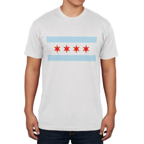 City Flag Chicago Mens T Shirt