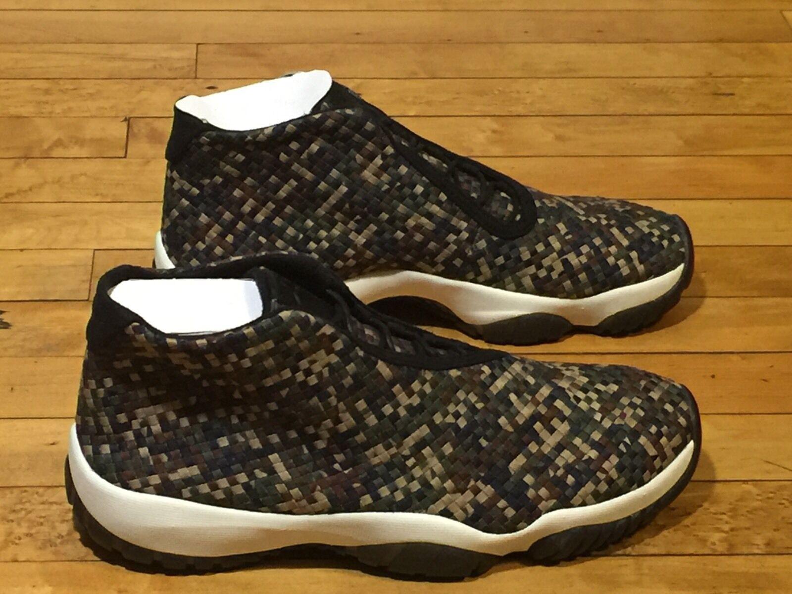 Nike air jordan, futuro premio 652141-301 nero - verde bagliore nero a infrarossi.