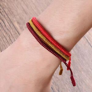 Adjustable-Tibetan-Buddhist-Knots-Handmade-Knitted-Lucky-Rope-Bracelet-Size-UK